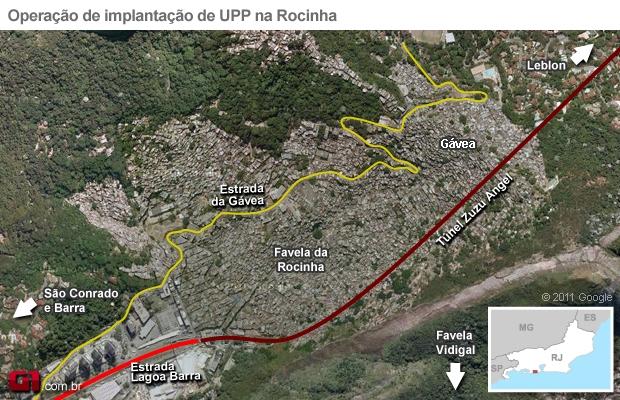 Rocinha (Foto: Arte G1)