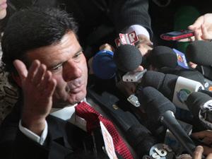 Luiz Fux, ao explicar voto em entrevista após o julgamento da Ficha Limpa, nesta quarta (9) (Foto: Nelson Jr./SCO/STF)