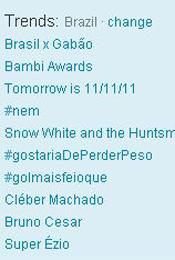 Trending Topics no Brasil às 17h23 (Foto: Reprodução)