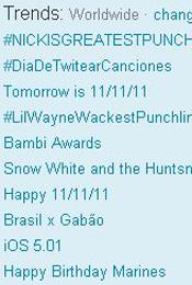 Trending Topics no Mundo, 17h27 (Foto: Reprodução)