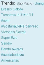 Trending Topics em SP às 17h32 (Foto: Reprodução)
