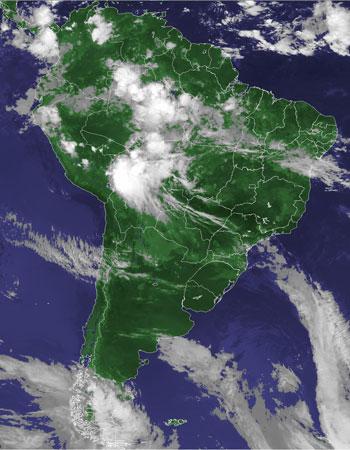 Previsão de tempo instável em todo o país no fim de semana que antecede o feriado (Foto: Reprodução/Cptec/Inpe)