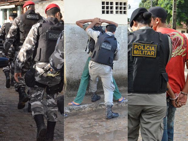Operação no Bairro dos Novais, na Paraíba (Foto: Walter Paparazzo/G1)