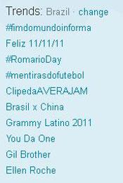 Trending Topics no Brasil às 12h38 (Foto: Reprodução)