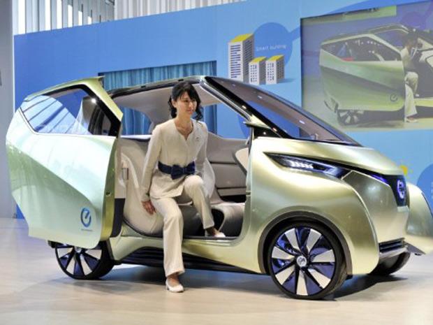 Nissan Pivo 3 é um compacto elétrico de três rodas (Foto: Divulgação)