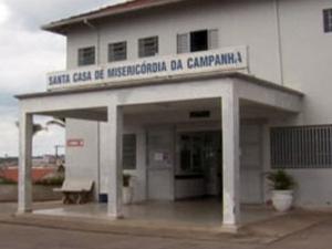 Idoso estava internado na Santa Casa de Campanha. (Foto: Reprodução EPTV)