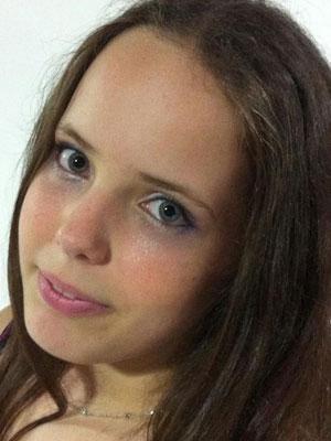 Estudante Sabrina Fontão, de 12 anos (Foto: Arquivo Pessoal)