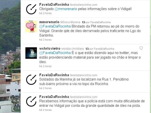 Estudantes de jornalismo relatam ocupação em tempo real no Twitter (Foto: Reprodução/Twitter)
