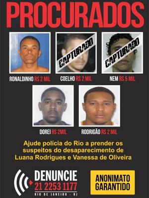 Cartaz do Disque-Denúncia oferece recompensa de R$ 2 mil por informações que levem a suspeitos de matar modelo na Rocinha (Foto: Divulgação/Disque-Denúncia)