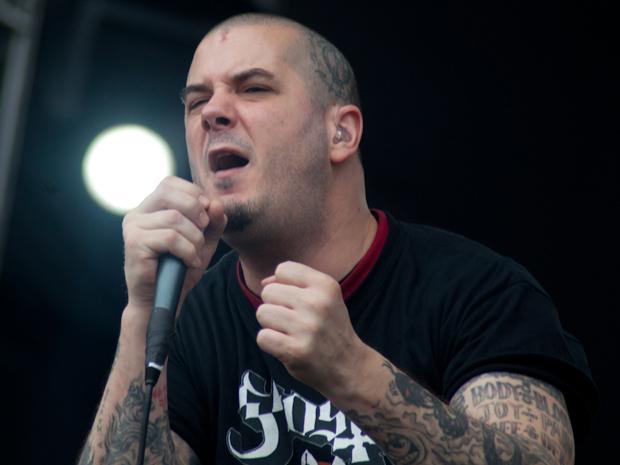 Phil Anselmo, ex-Pantera e vocalista do Down, se apresenta no SWU (Foto: Caio Kenji/G1)