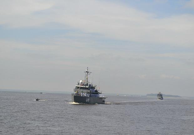 Solenidade de lançamento aconteceu a bordo do Navio de Assistência Hospitalar Oswaldo Cruz (Foto: Divulgação)