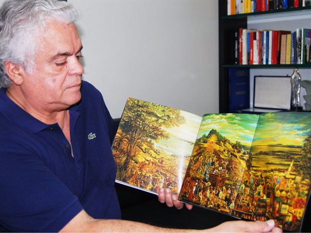 Artista plástico paraibano Flávio Tavares (Foto: Inaê Teles/G1)