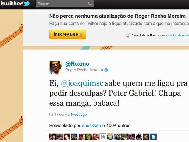 Twitter Roger (Foto: Reprodução/Twitter)