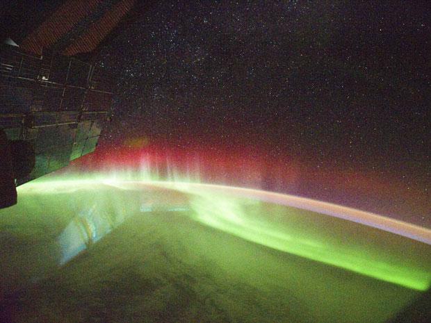 Aurora austral (Foto: Reuters/Nasa/JSC)