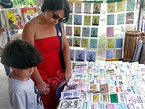 Espaço Cordel despertam interesse em crianças e adultos (Foto: Katherine Coutinho/G1)