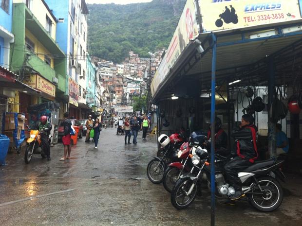 Rocinha na terça-feira (Foto: Paulo Pizza/G1)