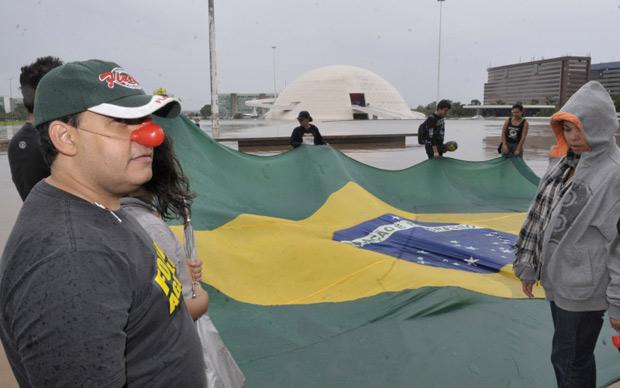 Protesto em Brasília contra corrupção neste feriado (Foto: Agência Brasil)
