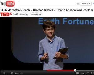 Suarez palestrou nos EUA sobre como estudantes podem criar aplicativos (Foto: Reprodução)