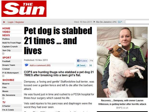 Claire e o cão Dempsey (Foto: Reprodução)