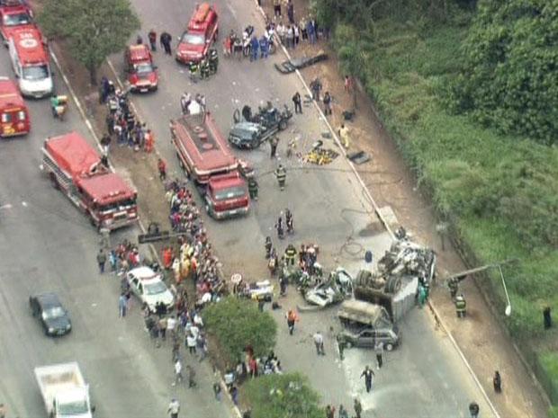Acidente (Foto: Reprodução/ TV Globo)