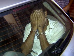 Marido foi preso na noite desta quarta-feira em Cuiabá.   (Foto: Reprodução /TVCA)