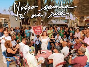 """Capa do disco """"Nosso samba tá na rua"""", de Beth Caravalho (Foto: Reprodução)"""