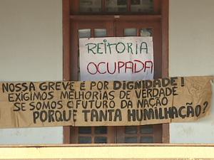 Ocupação da reitoria da Unir já dura mais de 45 dias (Foto: Reprodução/TV Rondônia)
