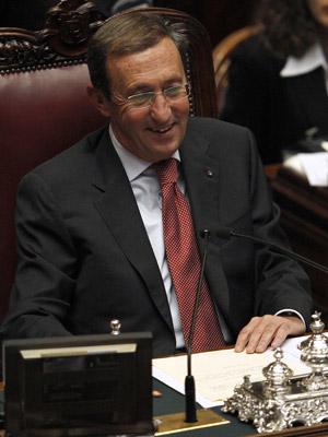 Gianfranco Fini, presidente da Câmara Baixa do Parlamento italiano (Foto: Reuters/Tony Gentile)