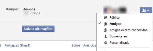 Ataques no Facebook são mais eficientes quando sua lista de amigos é pública (Foto: Reprodução)