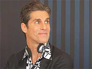 Perry Farrell, fundador do Lollapalooza e vocalista do Jane's Addiction, durante entrevista coletiva no Jockey Club, em São Paulo (Foto: Braulio Lorentz/G1)