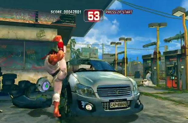 Cena parece ter sido inspirada em jogo de videogame. (Foto: Reprodução/YouTube)