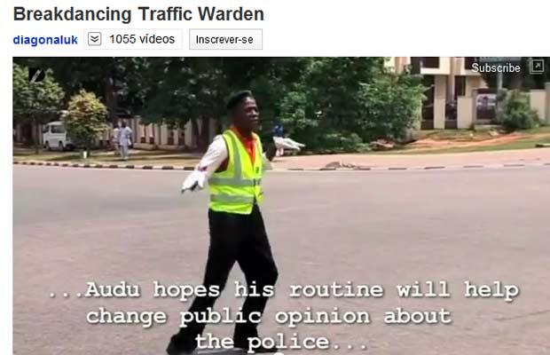 O cabo Sebul Audu em ação (Foto: Reprodução de vídeo)
