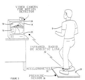 Patente da Impulse Technologies de 1996 mostra como funciona seu 'jogo' de exercícios, similar aos títulos do gênero para o Wii (Foto: Divulgação)