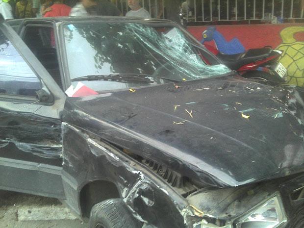 Carro do atropelamento (Foto: Arquivo Pessoal/Rodrigo Pontes Silva )