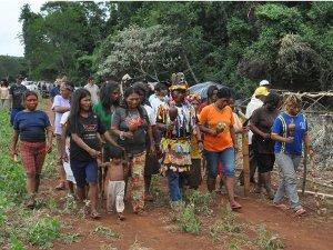 Indígenas estão apreensivos no acampamento que foi atacado em Mato Grosso do Sul (Foto: Tatiane Queiroz/G1 MS)