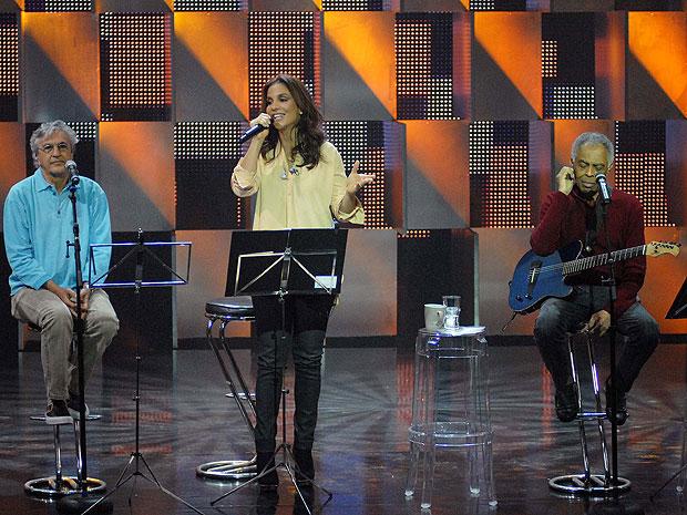 Ivete, Gil e Caetano (Foto: Alexandre Durão/G1)