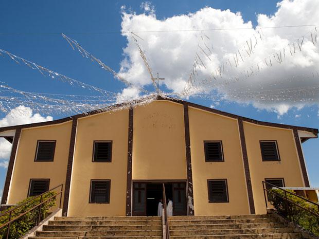 Igreja de Frei Galvão fica em Guaratinguetá (Foto: Caio Kenji/G1)