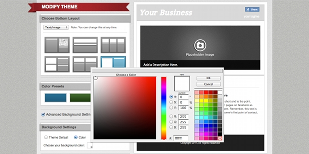 É possível modificar o visual da página usando as ferramentas do próprio serviço (Foto: Reprodução)