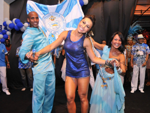 Sabrina diz que reforma no sambódromo será bom para o carnaval (Foto: Diego Mendes / Divulgação)