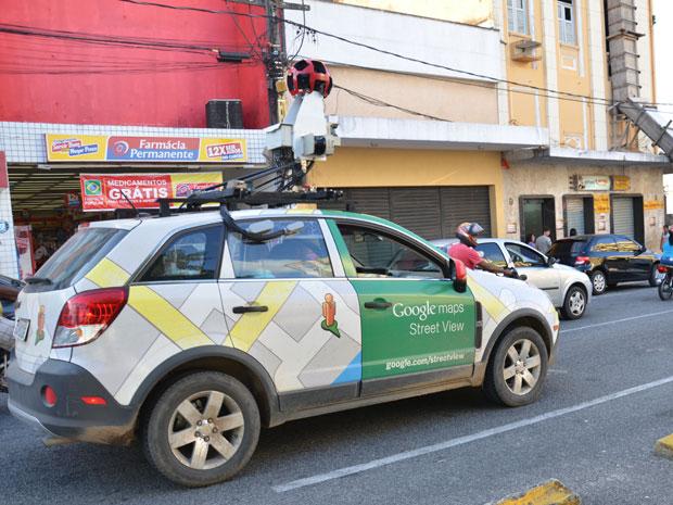 Carro do Google Street View está na Paraíba (Foto: Walter Paparazzo/G1)