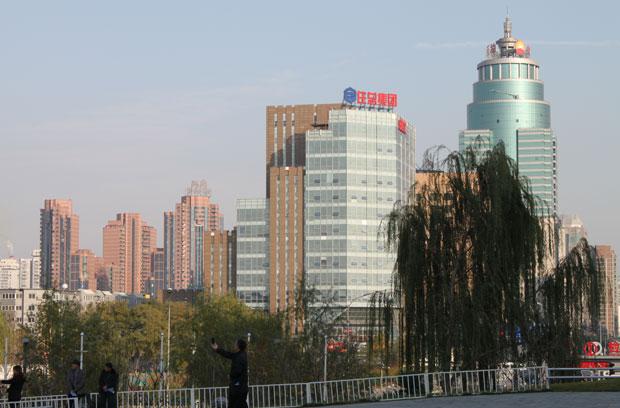 Área de escritórios de novas empresas em Pequim, sede da versão chinesa do Vale do Silício (Foto: Leopoldo Godoy/G1)