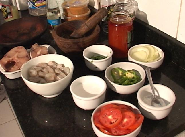 moqueca ingredientes (Foto: Reprodução/TV Bahia)