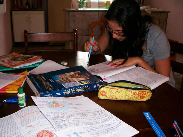 Estudante diz que tem mais dificuldade em matérias como física e química (Foto: Arquivo pessoal)