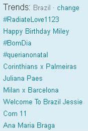 Trending Topics no Brasil às 12h29 (Foto: Reprodução)