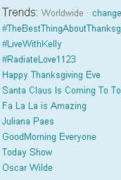 Trending Topics no Mundo, 12h16 (Foto: Reprodução)