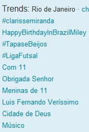 Trending Topics no Rio às 12h20 (Foto: Reprodução)