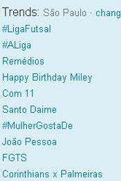 Trending Topics em SP às 12h17 (Foto: Reprodução)