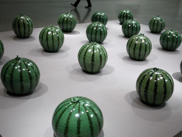 """Obra """"Watermelon"""", do artista chinês Ai Weiwei (Foto: Pichi Chuang/Reuters)"""