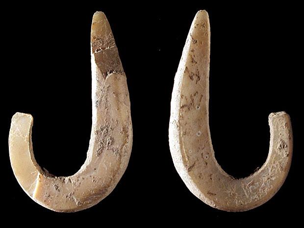 Anzol de 11 mil anos encontrado no Timor Leste (Foto: Cortesia/Susan O'Connor)