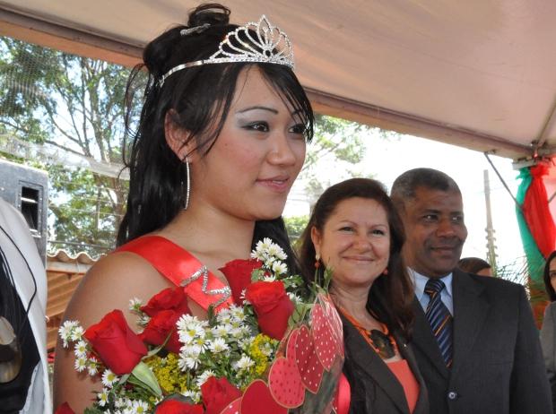 Kettryllen Oshiro, 19 anos, venceu o concurso Miss Penitenciária MS (Foto: Aliny Mary Dias/G1 MS)